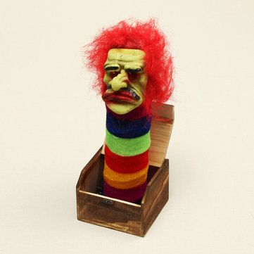 Halloween Wooden Box Horror Trick Prank Electric Voice Activated Toy