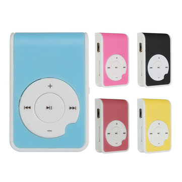 Mini Q Key MP3 Music Player With USB Cable Earphone Back Clip Support 8GB TF Card