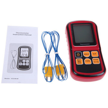 BENETECH GM1312 Digital Thermometer Dual-channel LCD Display Temperature Meter Tester for K/J/T/E/R/S/N Thermocouple