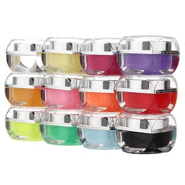 12 Solid Colors UV Builder Nail Art Design Glaze Gel