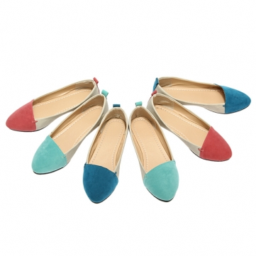 Zanzea Candy Color Sweet Women Cusp Flat Comfort Casual Single Shoes