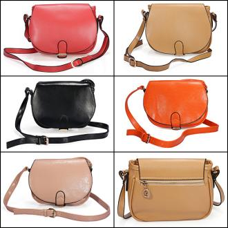 Candy Colors PU Leather Women Shoulder Satchel Tote Messenger Bags