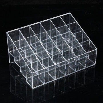 24 Quadrates Acrylic Clear Cosmetic Container